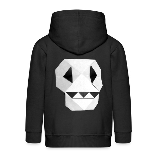 Origami Skull - Skull Origami - Calavera - Teschio - Kids' Premium Zip Hoodie