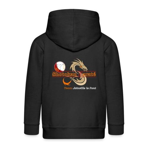 Visuel Karate Noir CM TShirtOnly png - Veste à capuche Premium Enfant