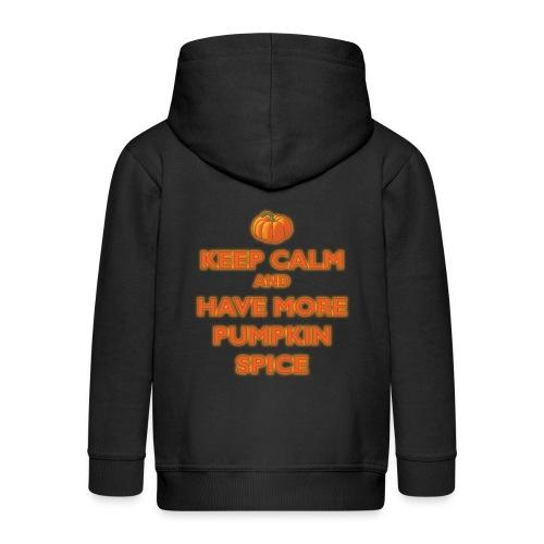 KeepCalmPumpkinSpice - Felpa con zip Premium per bambini