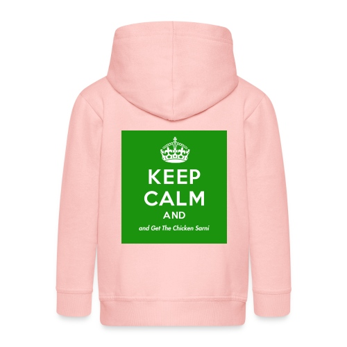 Keep Calm and Get The Chicken Sarni - Green - Kids' Premium Zip Hoodie