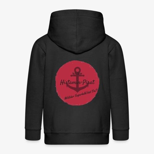 Histamin-Pirat Superheld (rot) - Kinder Premium Kapuzenjacke