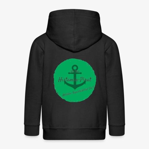 Histamin-Pirat Superheld (grün) - Kinder Premium Kapuzenjacke