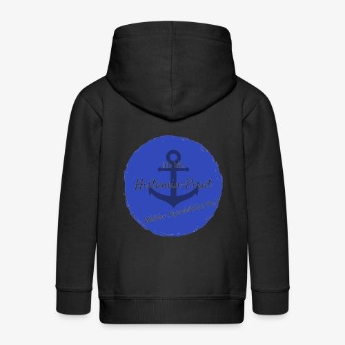 Histamin-Pirat Superheld (blau) - Kinder Premium Kapuzenjacke