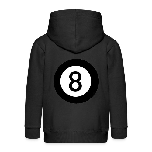 Black 8 - Kids' Premium Zip Hoodie