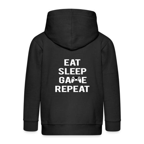 Eat, sleep, game, REPEAT - Kids' Premium Hooded Jacket