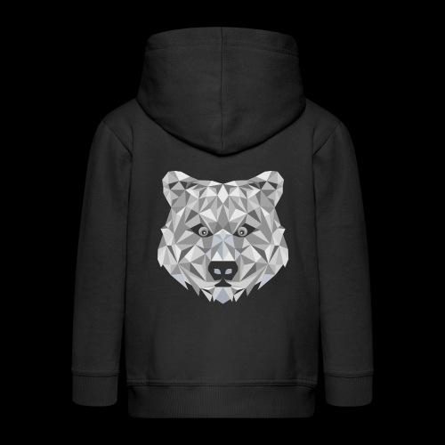 Bear-ish - Rozpinana bluza dziecięca z kapturem Premium
