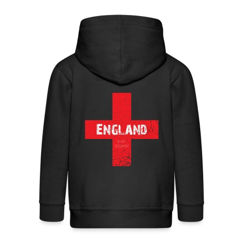 ENGLAND is my country - Kids' Premium Zip Hoodie