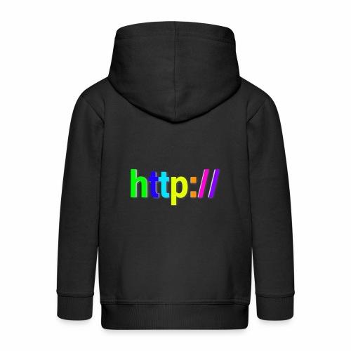 T-SHIRT Potocollo HTTP - Felpa con zip Premium per bambini