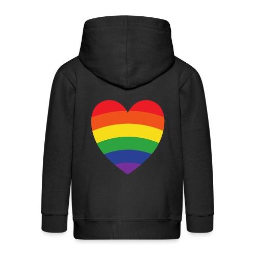 Regenbogenherz | LGBT | Geschenkidee - Kinder Premium Kapuzenjacke