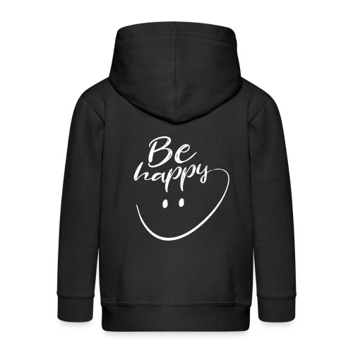 Be Happy With Hand Drawn Smile - Kids' Premium Zip Hoodie