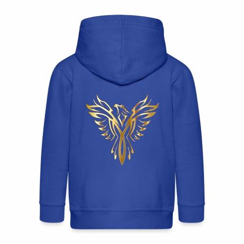 Złoty fenix - Rozpinana bluza dziecięca z kapturem Premium