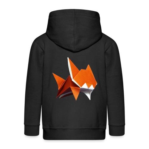 Jumping Cat Origami - Cat - Gato - Katze - Gatto - Kids' Premium Hooded Jacket