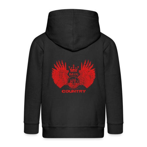 IH KING of the COUNTRY (Red design) - Kinderen Premium jas met capuchon