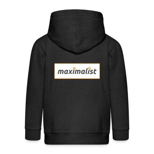 Bitcoin Maximalist - Kids' Premium Zip Hoodie