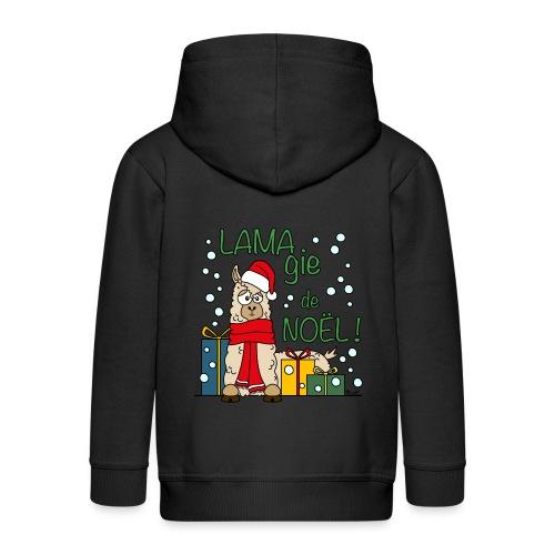 Lama, Magie de Noël, Happy Christmas, Pull moche - Veste à capuche Premium Enfant