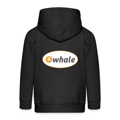 Bitcoin Whale - Kids' Premium Zip Hoodie