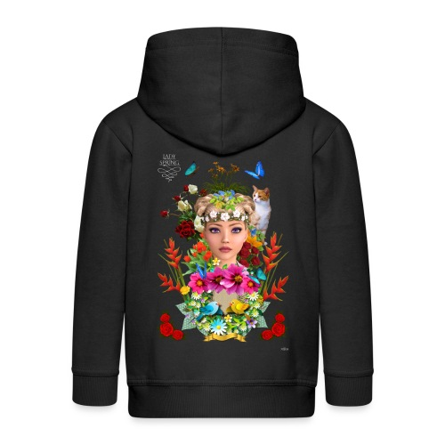 Lady spring by t-shirt chic et choc (dark & black) - Veste à capuche Premium Enfant