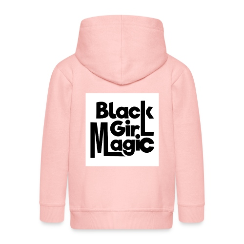 Black Girl Magic 2 Black Text - Kids' Premium Zip Hoodie