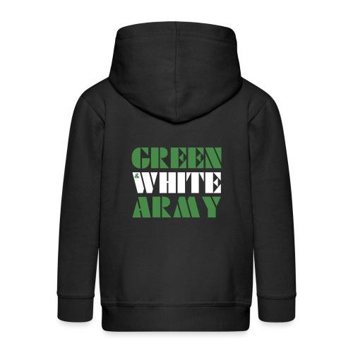 GREEN & WHITE ARMY - Kids' Premium Zip Hoodie