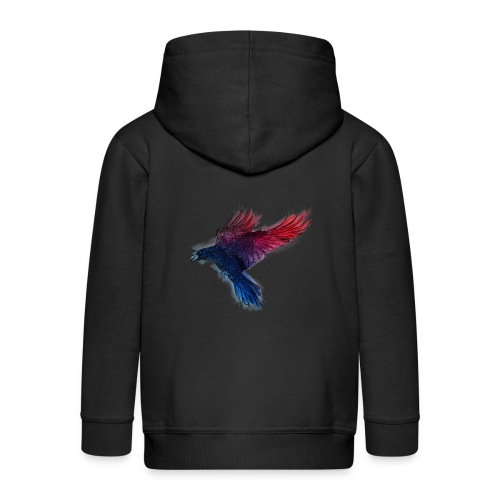 Watercolor Raven - Kinder Premium Kapuzenjacke
