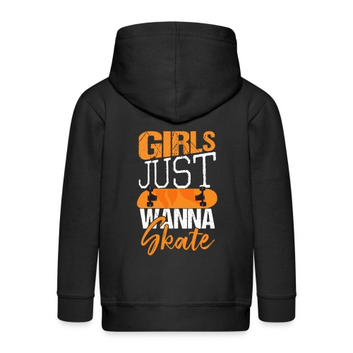 GIRLS JUST WANNA SKATE - Kinder Premium Kapuzenjacke