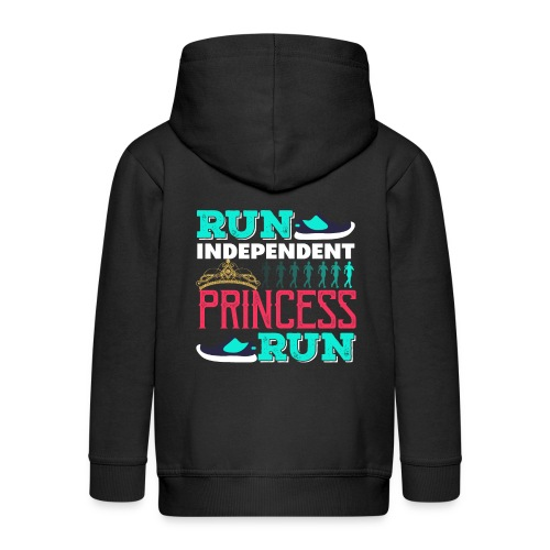 RUN INDEPENDENT PRINCESS RUN - Kinder Premium Kapuzenjacke
