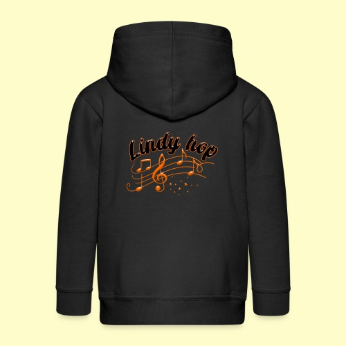 Lindy Hop Swing Tanz Geschenk T-Shirt - Kinder Premium Kapuzenjacke
