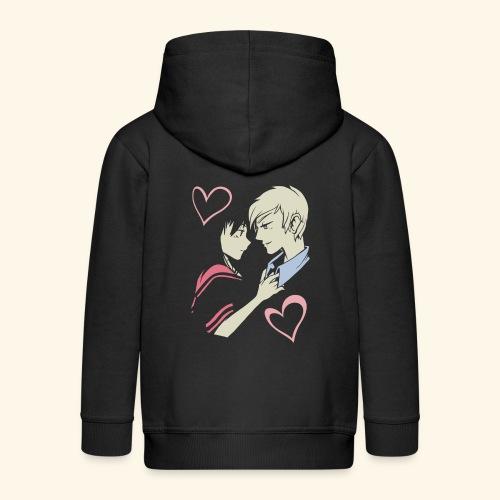 Romantisches Liebespaar Herzen Liebe Anime Cartoon - Kinder Premium Kapuzenjacke