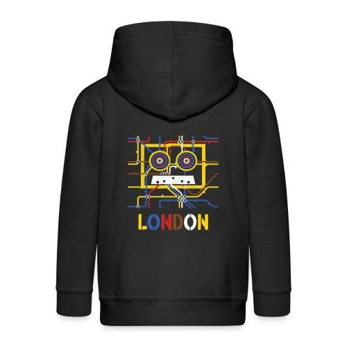 London Tube Map Underground - Kinder Premium Kapuzenjacke