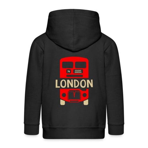 London Bus Roter Doppeldecker London Fan Souvenir - Kinder Premium Kapuzenjacke