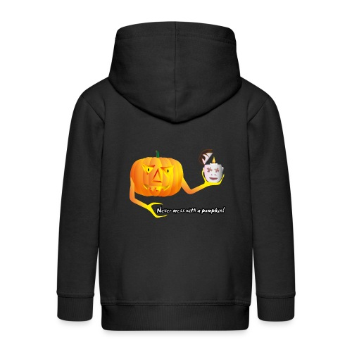 Never mess with a pumpkin - Kinder Premium Kapuzenjacke
