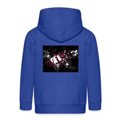 wisr puna musta splash t-paita - Lasten premium hupparitakki
