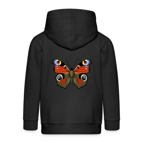 vlinder1_d - Kinderen Premium jas met capuchon