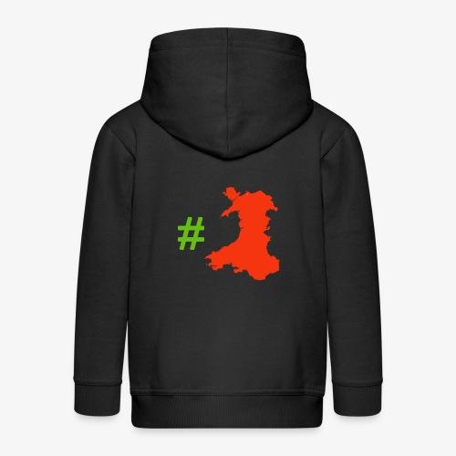 Hashtag Wales - Kids' Premium Zip Hoodie