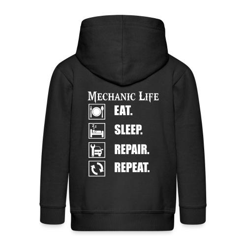 Das Leben als Mechaniker ist hart! Witziges Design - Kinder Premium Kapuzenjacke
