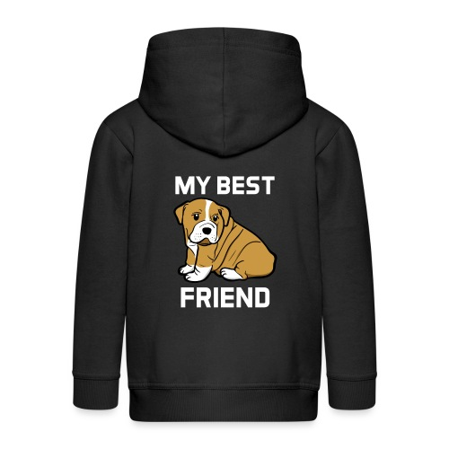My Best Friend - Hundewelpen Spruch - Kinder Premium Kapuzenjacke