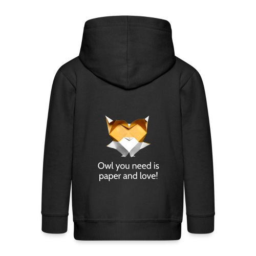 Origami Owl - Owl you need is paper and love! - Kids' Premium Hooded Jacket