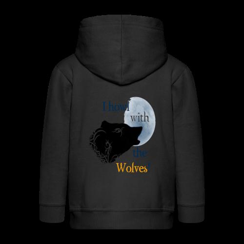 Wolf howl - Kinder Premium Kapuzenjacke