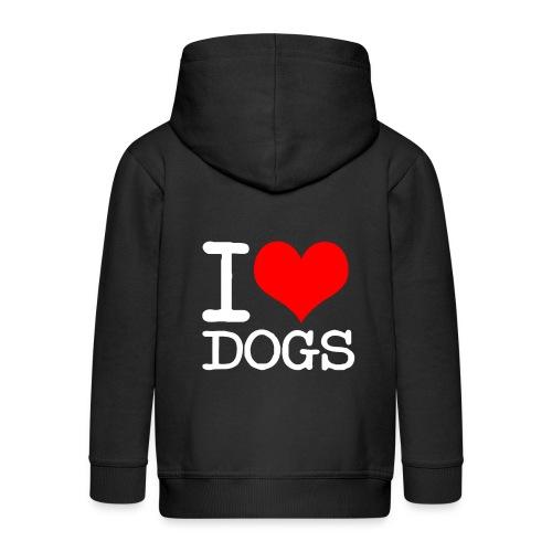 I Love Dogs - Kinder Premium Kapuzenjacke