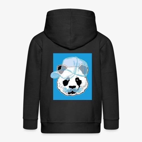 Panda - Cap - Mustache - Kinder Premium Kapuzenjacke