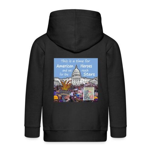 This Is A Time For American Heroes - Kids' Premium Zip Hoodie