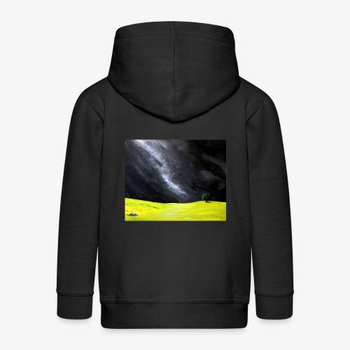 Oryginalny obraz Cisza - Rozpinana bluza dziecięca z kapturem Premium