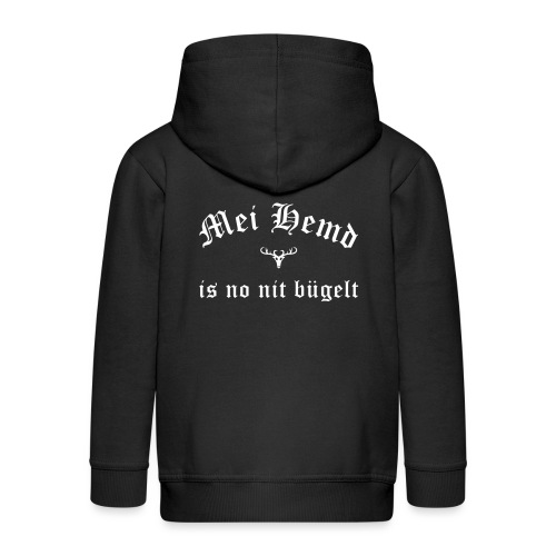 Mei Hemd is no nit bügelt - Hirsch - Kinder Premium Kapuzenjacke