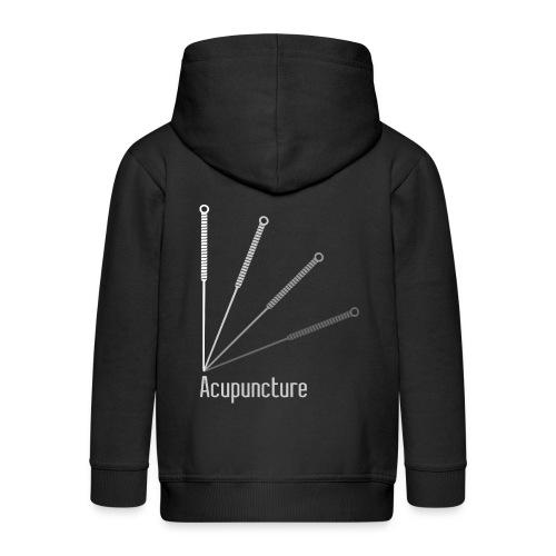 Acupuncture Eventail (logo blanc) - Veste à capuche Premium Enfant