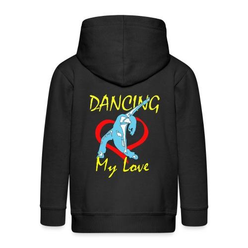 Dancing my Love HBlau - Kinder Premium Kapuzenjacke