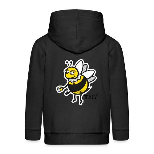 Teeny Tiny East End Bee - Kids' Premium Zip Hoodie