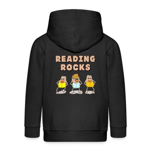 Reading Rocks Funny Book Lovers - Kids' Premium Zip Hoodie