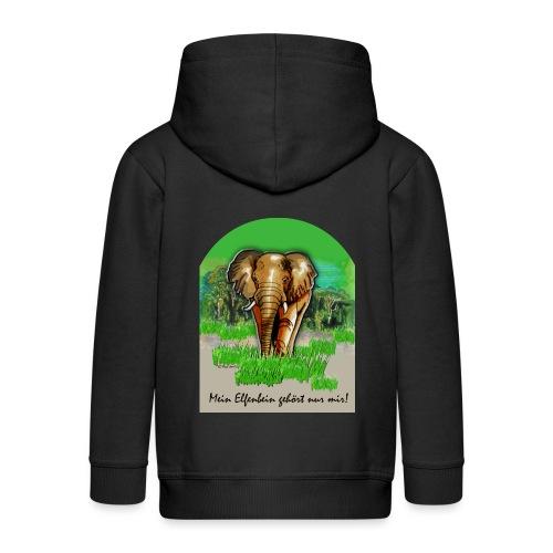 Waldelefant I Mein Elfenbein gehört nur mir! - Kinder Premium Kapuzenjacke