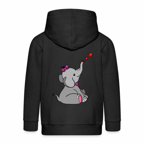 Elefant - Kinder Premium Kapuzenjacke