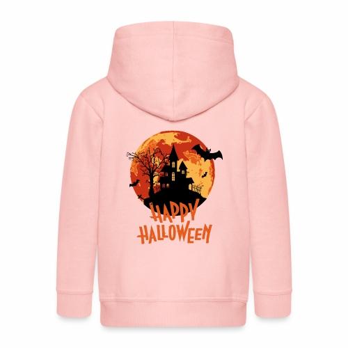 Bloodmoon Haunted House Halloween Design - Kinder Premium Kapuzenjacke
